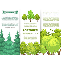 Eco banner template - forest banners with colorful vector