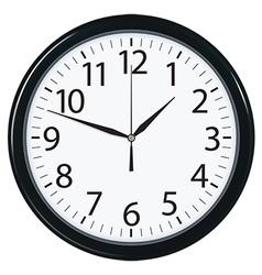 Clock face isolated vector