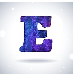 Watercolor letter e vector