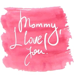 Lettering for mothers day vector