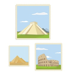 Post stamp set vector