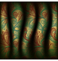 Paisley curtain background vector