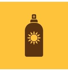 The sun cream icon Sunscreen symbol Flat vector image