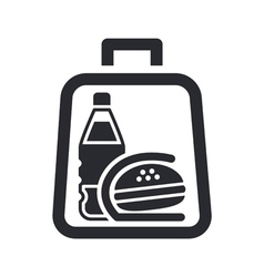 Sandwich and drink vector