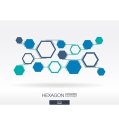 Abstract hexagon background with integrated vector