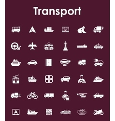 Set of transport simple icons vector
