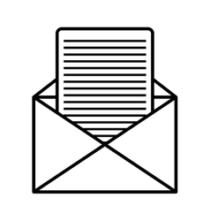 Email or mailing isolated flat icon vector