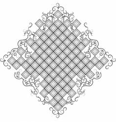 Baroque background all curves separately vector