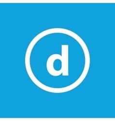 Basic font for letter D vector image