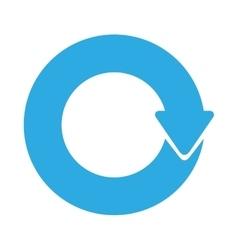 Blue arrows icon vector