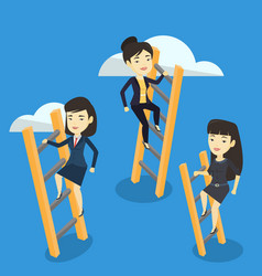 business people climbing to success vector image vector image