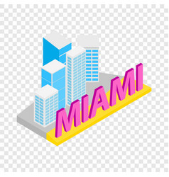 City of miami isometric icon vector