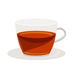 Cup of tea icon cartoon style vector image