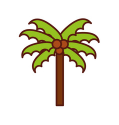 cute beach palm cartoon vector image vector image