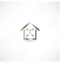 eco and metal vector image vector image