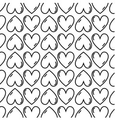 Figure cute heart love icon background vector