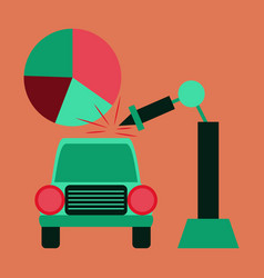 Flat icon on stylish background automotive vector