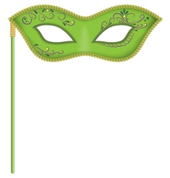 Green mask on stick vector