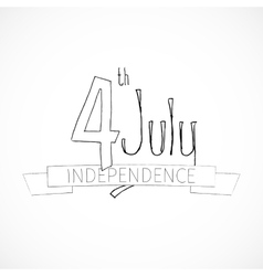 Independence Day sketch vector image vector image