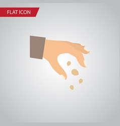 isolated hand flat icon sow element can be vector image vector image