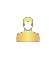 Male avatar computer symbol vector image vector image