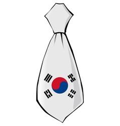 Necktie in national colours of south korea vector