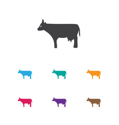 of zoology symbol on cow icon vector image vector image