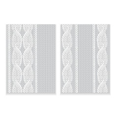 Pattern of knitted fabric vector