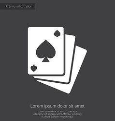 poker premium icon white on dark background vector image vector image