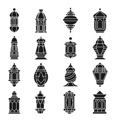 ramadan lamp set vector image