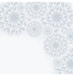 Romantic background with flower chrysanthemum vector image vector image