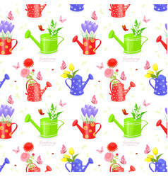 Seamless texture with bouquet of flowers in vector