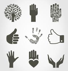 Set of hands4 vector image vector image