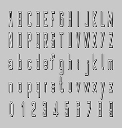 Shadow alphabet 3d font design letters and vector