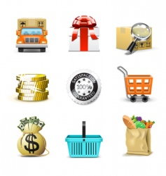 shopping icons | bella series vector image vector image