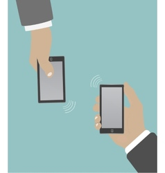Smartphone in hand wifi vector
