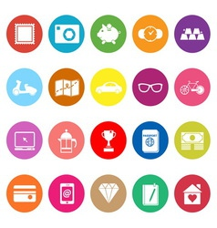 The useful collection flat icons on white vector image