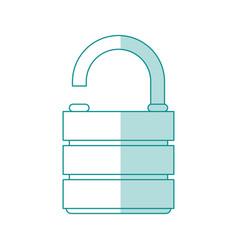 Unlocked lock desigb vector