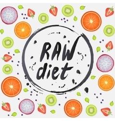 Vegan diet healthy food background vector