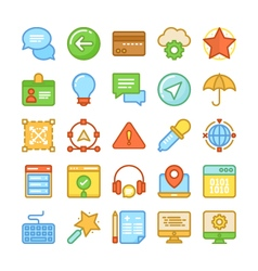 Web Design and Development Colored Icons 4 vector image