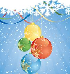 winter decorations vector image