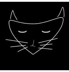 Sign face of cat 2508 vector