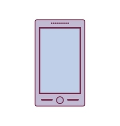 Colorful tech touch cellphone with buttons vector