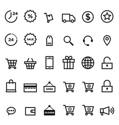 E-commerce outline icon set vector