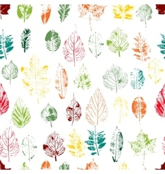 Seamless pattern with stamp leaves Endless vector image