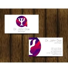 Psychology visit card modern logo vector