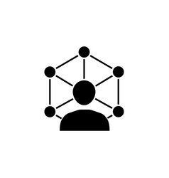 Community network solid icon vector
