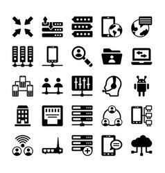 Network and communication icons 10 vector