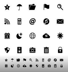 Tool bar icons on white background vector