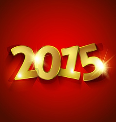 Golden 2015 New Year vector image